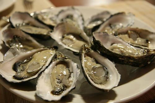 oysters rich in zinc