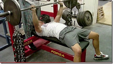 bench press chains 2 top position