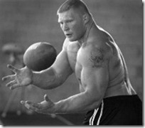 brock lesnar strength