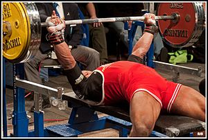 English: bench press
